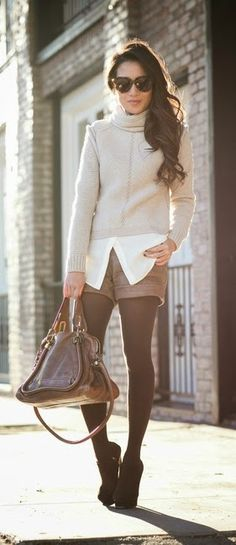 http://momsmags.net/best-street-fashion-wear-for-teens/ chunky sweater and brown leather short