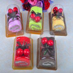 NEW CHERRY FRUIT CAKE rocambole toalha de rosto FAVOR TOALHA DE BANHO toalhinha…