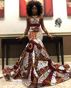 African print tube mermaid dress made with high quality fabric African Prom Dresses, Ankara Dress Styles, Latest African Fashion Dresses, African Dresses For Women, African Attire, African Women, Ankara Fashion, Modern African Dresses, African Dress Styles