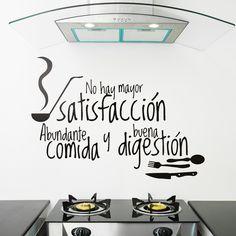 Comida Digestión - VINILOS DECORATIVOS Le Chef, Lettering, Life, Home Decor, Bar, Food, Pallets, Ideas, Happy