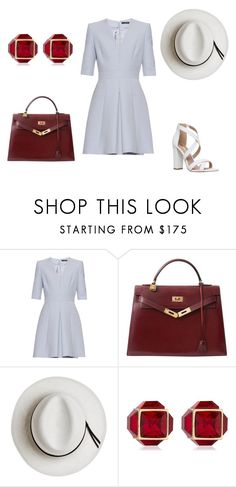 """""""Yes or No?🤔"""" by naidawest ❤ liked on Polyvore featuring Alexander McQueen, Hermès, Calypso Private Label, Vita Fede, Miss KG and fashionable"""