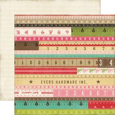 Echo Park - This and That Collection - Graceful - 12 x 12 Double Sided Paper - Yardsticks at Scrapbook.com $0.89