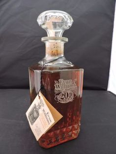 A very special decanter of Evan Williams 7 Year Old Bourbon. This was released in 1983 to commemorate the anniversary of distilling by Evan Williams himself.
