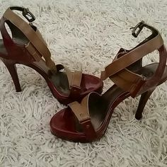 Heels Two tone,new never worn,just sitting in closets 71/2 Carlos Santana Shoes Heels