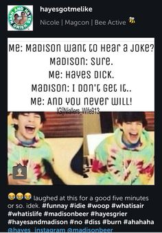 YASSSS!!! xD no hate on Madison tho :)