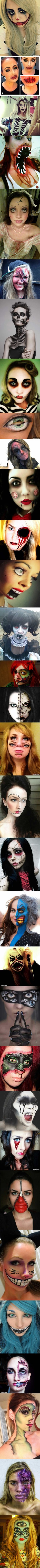 32 Totally Creepy Makeup Looks To Try This Halloween