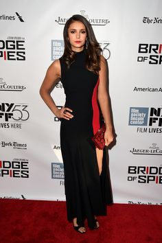 "Nina Dobrev attends the 53rd New York Film Festival - ""Bridge Of Spies"" - Red Carpet Center on October 4, 2015 in New York City."
