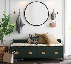 Pitted Hook Entryway Furniture: Do Not Neglect Your Foyer! Is your houses entryway negl Entryway Hooks, Entryway Decor, Mirror Hooks, Entry Foyer, Pottery Barn Entryway, Wall Decor, Framed Mirrors, Entryway With Mirror, Entry Wall
