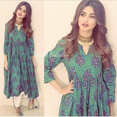 Sajal Ali's 10 Best Dresses - Style. Sajal Ali, Pakistani Outfits, Indian Outfits, Mahira Khan Dresses, Chic Outfits, Fashion Outfits, Women's Fashion, Nice Dresses, Casual Dresses