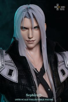 Gametoys GT-003 1/6 Sephiroth Final Boss 12'' Action Figure Anime Soldier Doll   eBay Why I Love Him, Final Fantasy Vii Remake, Fantasy Male, Perfect Man, Finals, Action Figures, Boss, Handsome, Leather Jacket