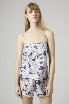 Silk Swirly Floral Print Cami Cami by Boutique