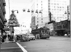 Hollywood Blvd. line, Christmas 1953