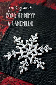 Patrón de Copo de Nieve a ganchillo by Lanukas