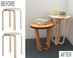 Cool IKEA hacks ideas before after stool remodel awesome modern side tables