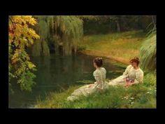 Louis Emile Adan (French Academic painter, Elegant ladies at rest beside a pond. Lesbian Art, Princess Aesthetic, Classical Art, Renaissance Art, Old Art, Pretty Art, Aesthetic Art, Oeuvre D'art, Les Oeuvres