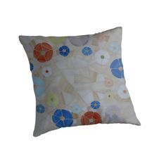 """""""Summer"""" Stained Glass Mosaic Design Throw Pillow For $ 19.84   Stained Glass Mosaic Side Table With Same Design For Sale for € 250 at: https://www.etsy.com/ie/listing/170738930/stained-glass-mosaic-tables-for-sale?ref=shop_home_active_9"""