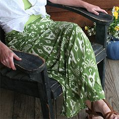 Easily transform and old thrift store dress into a cute summer maxi skirt