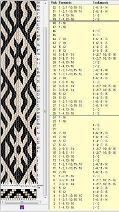 16 tarjetas, 2 colores, repite esquema cada 24 movimientos // sed_280a diseñado en GTT༺❁