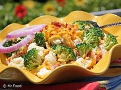 best broccoli salad (57 potluck recipes from Mr. Food) for-snacks-for-nibbles-for-parties