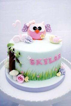 Owl #birthday #cake