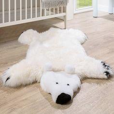 Australisches Lammfell Naturfell Spielteppich Kinderzimmer Dekofell Eisbär Weiß Kinderteppiche