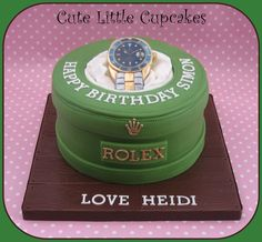 Rolex watch themed cake