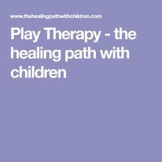 Play Therapy - the healing path with children Play Therapy Activities, Continuing Education, Learning Centers, How To Become, Healing, Children, Gymnastics, Young Children, Fitness