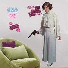 Roommates Rmk1606Gm Star Wars Classic Leia Peel And Stick Giant Wall Decal -- You can find more details by visiting the image link.
