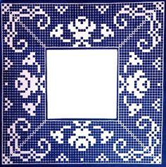 Filet Crochet, Crochet Doily Diagram, Crochet Square Patterns, Crochet Granny, Crochet Doilies, Crochet Lace, Crochet Stitches, Granny Pattern, Crochet Tablecloth