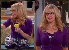 Bernadette's purple blue and white floral dress on The Big Bang Theory.  Outfit Details: http://wornontv.net/11055/ #TheBigBangTheory #CBS
