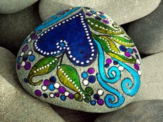 Wild Gypsy Heart / Painted Rock / Sandi Pike Foundas / Cape Cod
