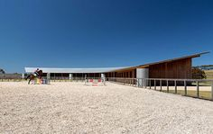 Horse riding centre near Melbourne, by London studio Seth Stein Architects