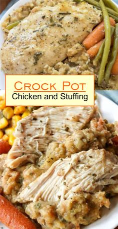 Crock Pot Chicken and Stuffing   Think Recipes