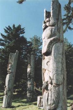 Skung Gwaii, Totem Poles, Gwaii Haanas National Park/Haida Heritage Site, B., Canada - pin curated by for Haida Gwaii, Haida Art, Park Art, Virtual Museum, Canada, Totem Poles, Aboriginal Art, Plein Air, Tribal Art