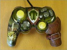Legend of Zelda (Twilight Princess) Prototype Gamecube Controller | 11 Kick-Ass Game Controllers http://minecraftwiz.com/gaming-controllers/