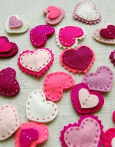 Molly's Sketchbook: Valentine Heart Barrettes - The Purl Bee - Knitting Crochet Sewing Embroidery Crafts Patterns and Ideas!