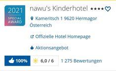 Herzliche Gratulation an das gesamte nawu-Team Hotels For Kids