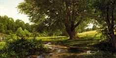 william+trost+richards+art | Glade at Oldmixon, Chester County, Pennsylvania (1881-1890)