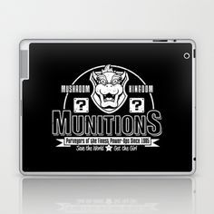 Mushroom Kingdom Munitions Laptop & iPad Skin by adho1982 - $25.00