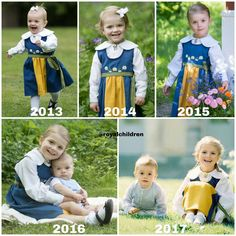 Princess Estelle's and Prince Oscar's official National Day photos from 2013 to 2017 . #PrincessEstelle #PrinsessanEstelle #PrinceOscar #PrinsOscar #swedishroyalfamily #swedishroyals #kungafamiljen #royals #royalchildren