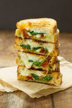replace bread with waffle? - Sun dried tomato spinach grilled provolone cheese sandwich | Eat Good 4 Life