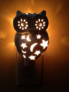 Ceramic Owl Night Light