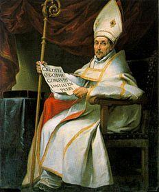 Święty Leander (ur. ok. 534 w Nowej Kartaginie (Cartagena), Hiszpania, zm. 599 lub 600) – święty Kościoła katolickiego, arcybiskup Sewilli. s.Seweriana; bratem Izydora, Fulgencjusza i Florentyny; wstąpił do benedyktynów a w roku 578 został arcybiskupem Sewilli. Miał znaczący udział w nawróceniu Hermenegilda. W Konst.poznał Grzegorza Wlk.Synod w Toledo