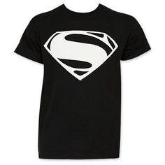 Batman v Superman Black And White Superman Logo Tee Shirt