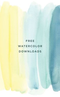 free watercolor text