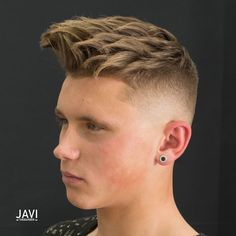 javi_thebarber_ high cool textured haircut for men  #menshairstyles #menshaircuts #menshair #hairstylesformen #haircuts #fades #fadehaircuts #fadehaircut #coolhaircuts #newhaircuts #menshairstyles 2017