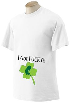 0fd35990e Items similar to St. Patricks Day Baby Announcement Shirt on White or  Black