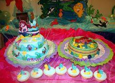 Torta, Gelatina y Cupcake´s de la Sirenita