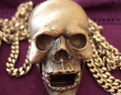 Skull Whistle Necklace, HMS Madeira, on Etsy at RetroRosiesVintage