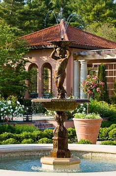 Relais & Chateaux - This magnificent 150 acres estate sits in rolling farmlands overlooking the Catskill Mountains and Glenmere Lake. Glenmere Mansion Gardens #relaischateaux #gardens